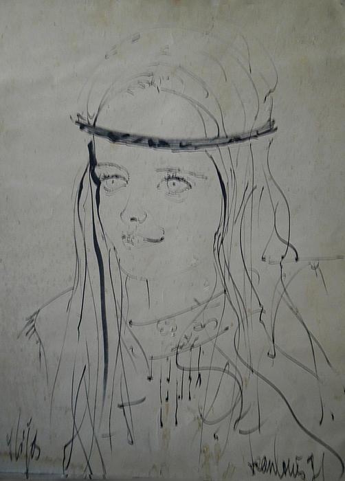 Portrait 1971 Colette Print by Colette V Hera  Guggenheim