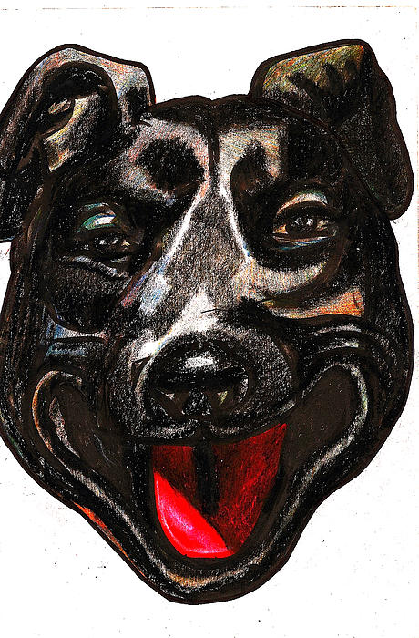Portrait Of A Pooch Print by Al Goldfarb