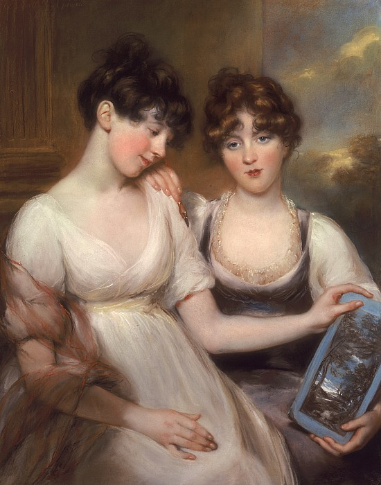 Portrait Of Anne And Maria Russell Print by John Russell