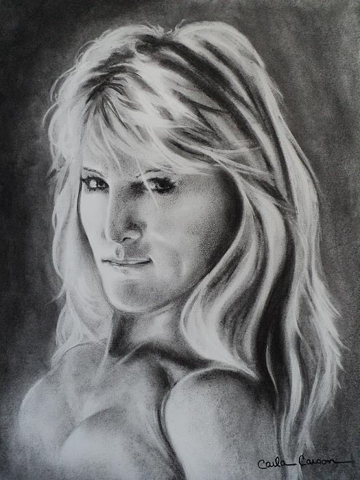Portrait Of  Carla Print by Carla Carson