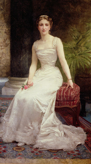 Portrait Of Madame Olry-roederer Print by William-Adolphe Bouguereau