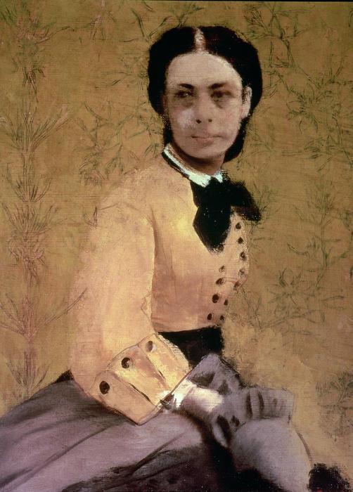 Portrait Of Princess Pauline De Metternich Print by Edgar Degas
