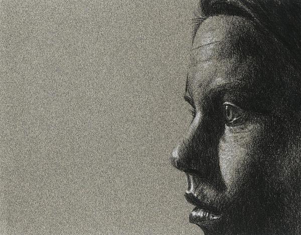 Portrait Of S Print by David Kleinsasser
