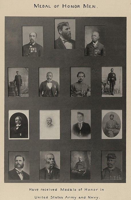 Portraits Of 15 African American Print by Everett