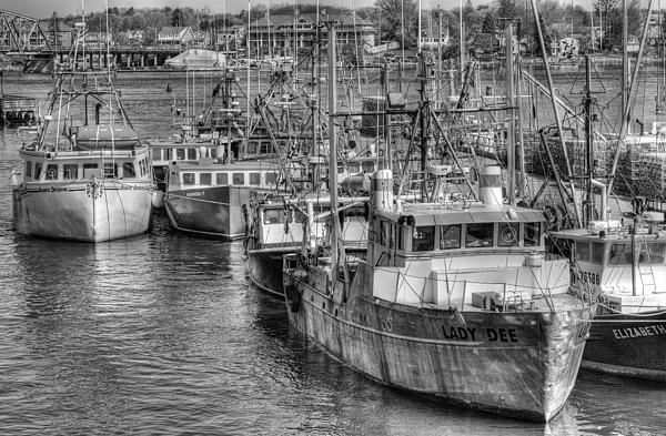 Portsmouth Fishing Fleet Print by Ron St Jean