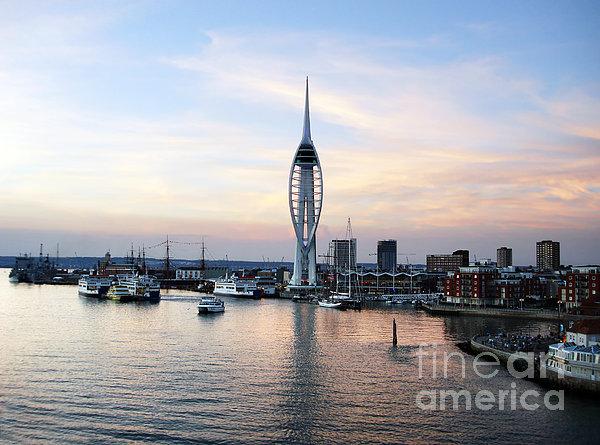 Portsmouth Waterfront Print by Jane Rix