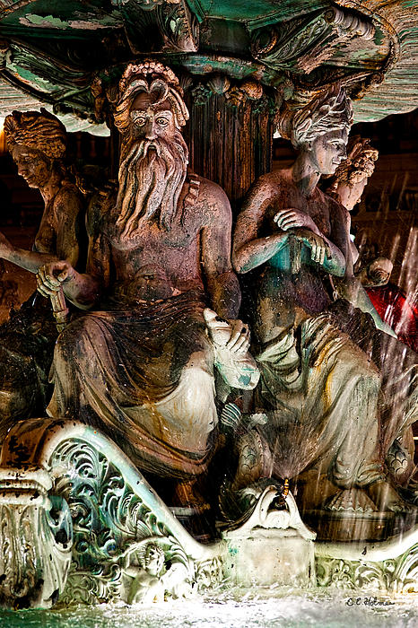 Poseidon And Friends Print by Christopher Holmes