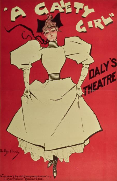 Poster Advertising A Gaiety Girl At The Dalys Theatre In Great Britain Print by Dudley Hardy