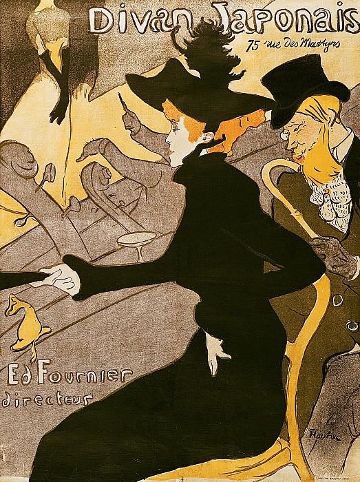 Poster Advertising Le Divan Japonais Print by Henri de Toulouse Lautrec