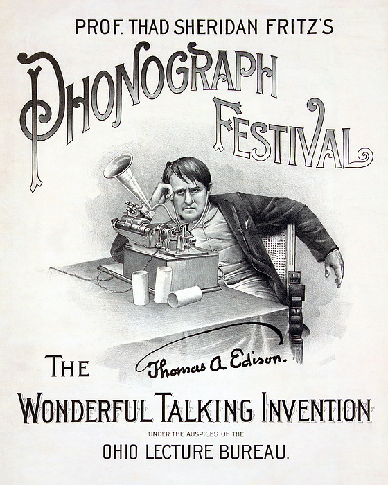Poster For A Music Festival, Text Reads Print by Everett