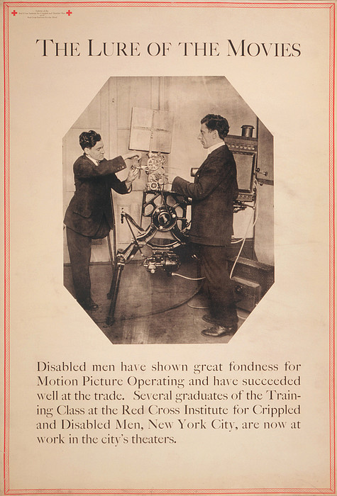 Poster Showing Disabled Man Working Print by Everett
