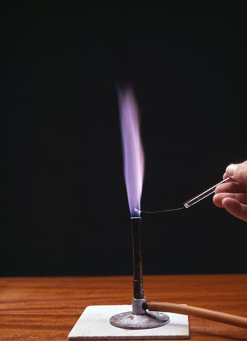 Potassium Flame Test Print by Andrew Lambert Photography