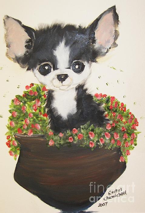 Potted Pup Print by Rachel Carmichael