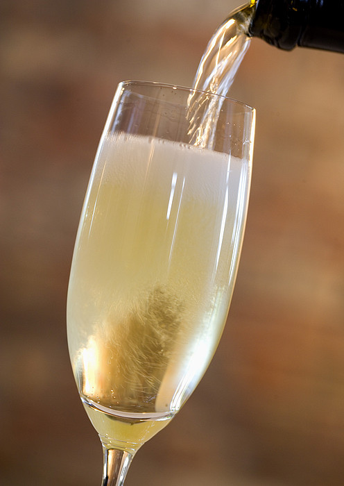 Pouring Champagne Print by Datacraft Co Ltd