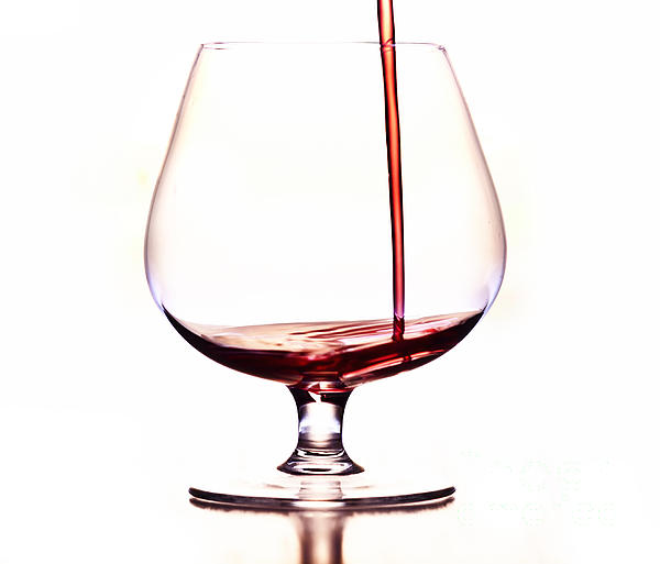 Pouring Wine Print by Michal Boubin