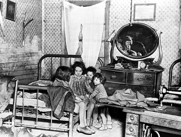 Poverty Stricken Children In A Rural Print by Everett