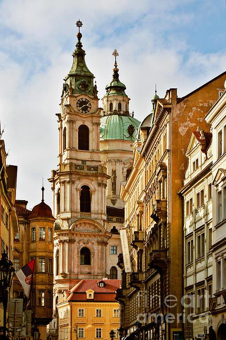 Prague - St. Nicholas Church Lesser Town Print by Christine Till