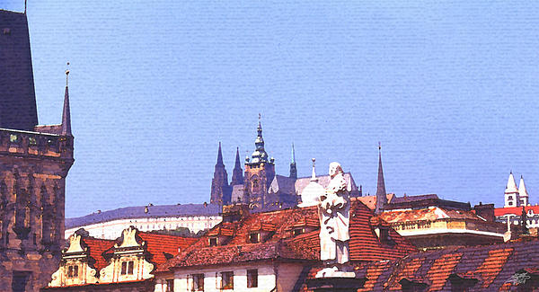 Prague Castle Print by Steve Huang