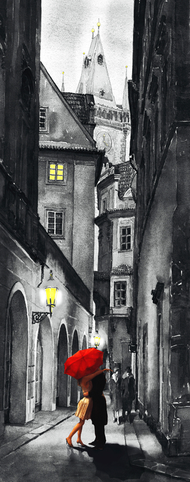 Prague Love Story Print by Yuriy  Shevchuk