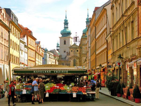 Prague Market Print by Randy Matthews