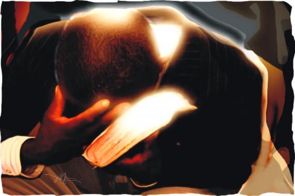 Pray For Us Print by Bob Salo