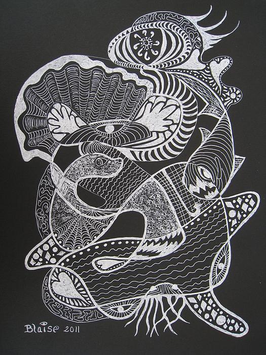 Prayer Of The Sea Print by Yvonne Blasy
