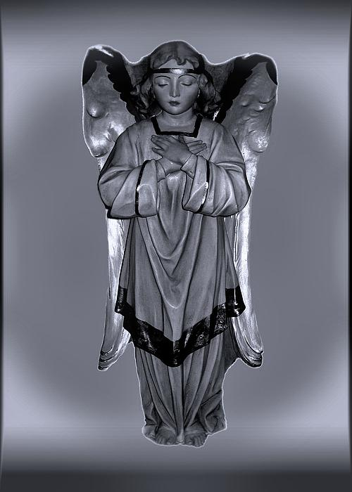Prayful Angel Print by Myrna Migala