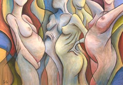 Pregnant Women Painting - Steve Gribben