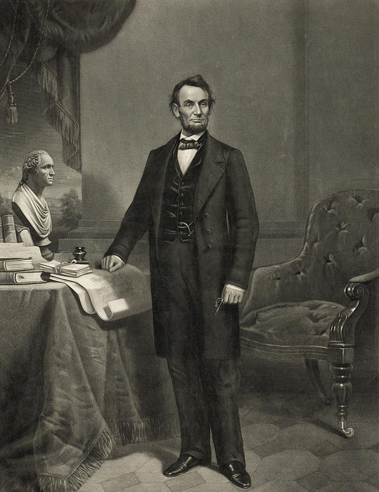 President Abraham Lincoln Print by International  Images