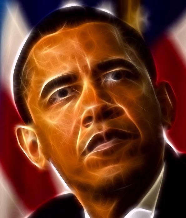 President Barack Obama Print by Pamela Johnson