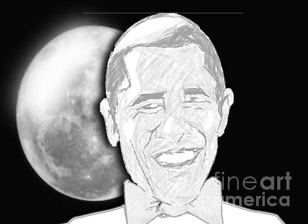 President  Barrack Obama Print by Belinda Threeths
