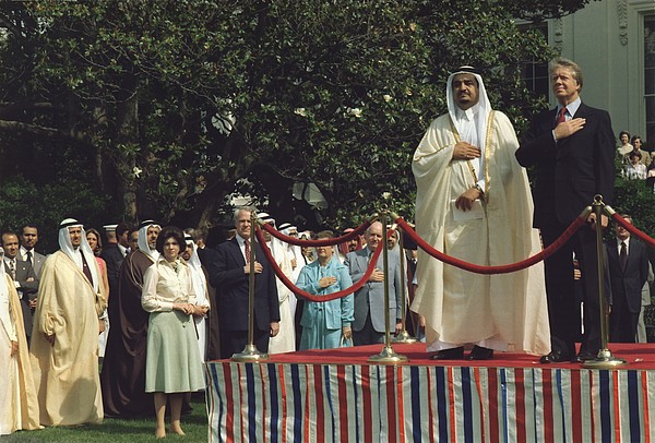 President Carter And Prince Fahd Bin Print by Everett
