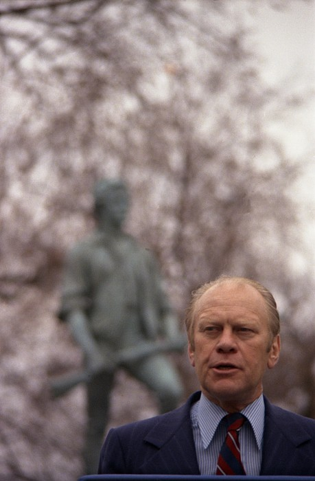 President Ford Speaks On The 200th Print by Everett
