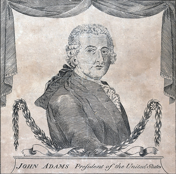 President John Adams, Engraving By Amos Print by Everett