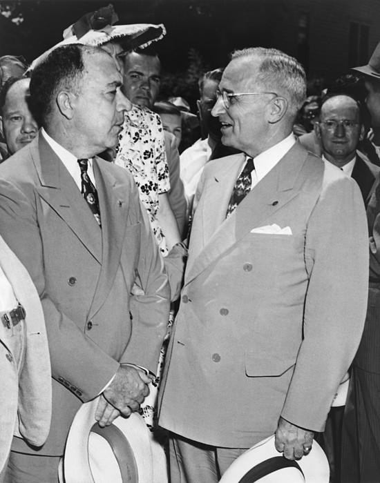 President Truman And James Pendergast Print by Everett