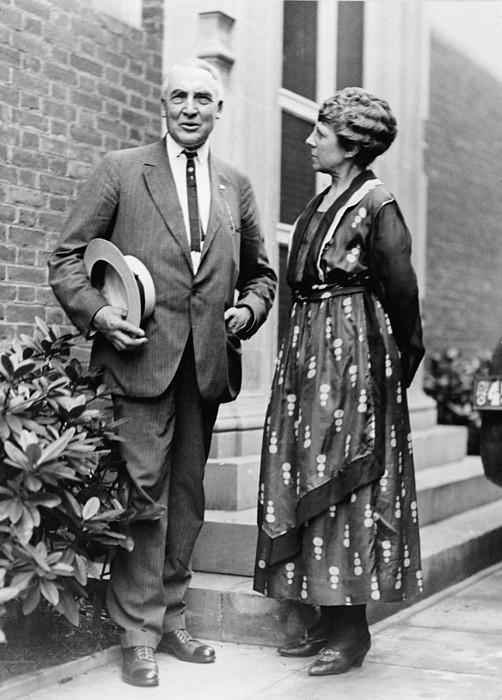 President Warren Harding With First Print by Everett
