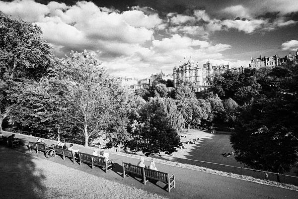 Princes Street Gardens In Edinburgh City Centre Scotland Uk United Kingdom Print by Joe Fox
