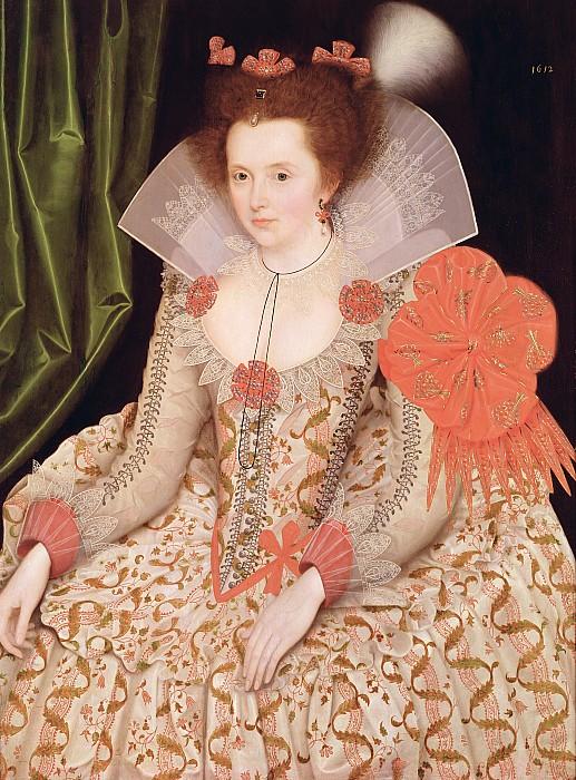 Princess Elizabeth The Daughter Of King James I Print by Marcus Gheeraerts