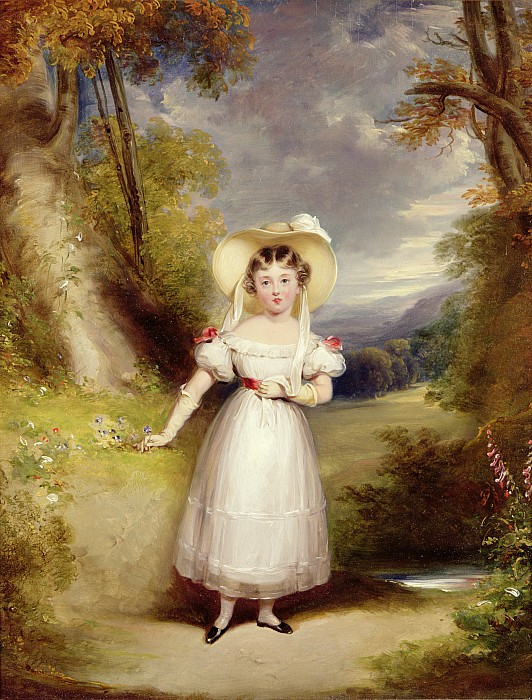 Princess Victoria Aged Nine Print by Stephen Catterson the Elder Smith