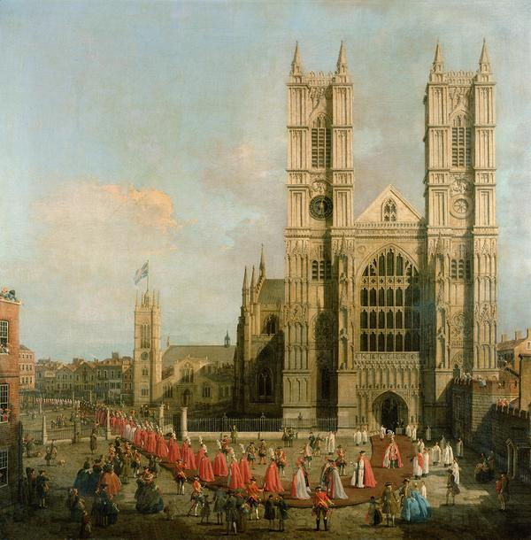 Procession Of The Knights Of The Bath Painting  - Procession Of The Knights Of The Bath Fine Art Print