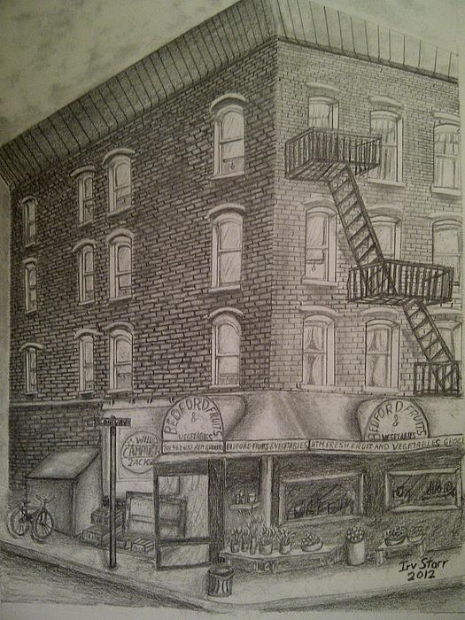 Produce Market In Brooklyn Print by Irving Starr