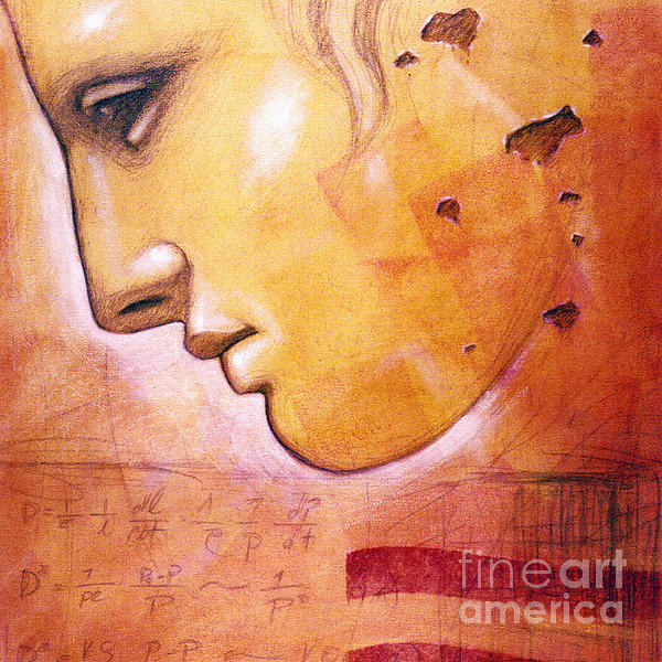Profile With Einstein Equation Print by Chris Bradley