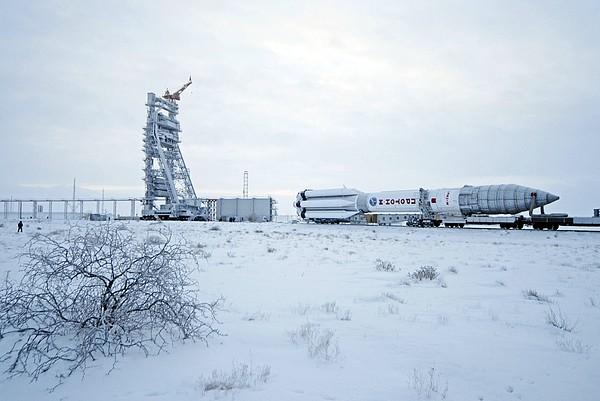 Proton M Rocket Near Its Launch Pad Print by Ria Novosti