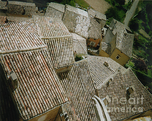 Provence Rooftops Print by Pamela Canzano