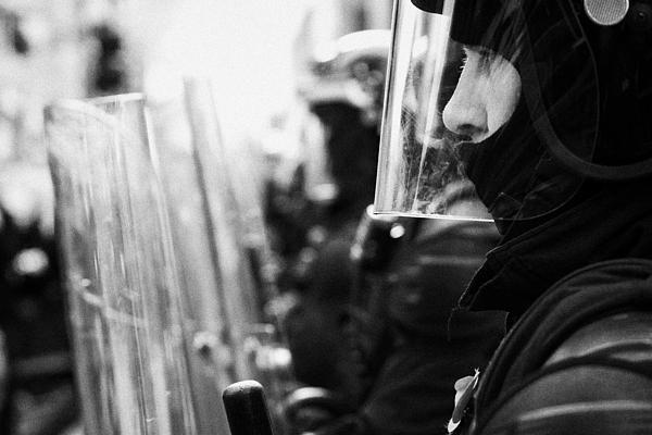 Psni Northern Ireland Riot Police Print by Joe Fox