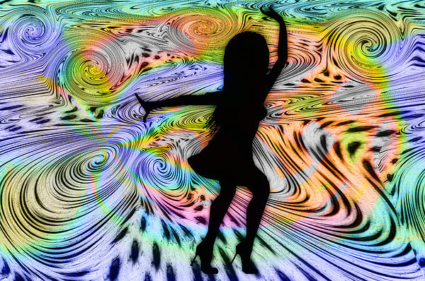 Psychedelic Dancer Print by Bill Cannon