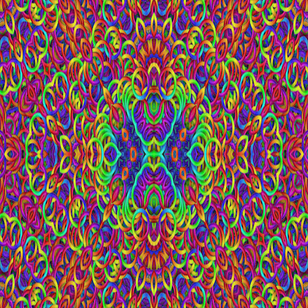 Psychedelic Kaleidoscope Print by Gina Lee Manley