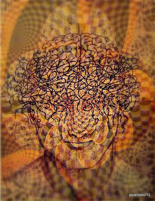 Psycho Traumatic Hypnotic Print by Paulo Zerbato