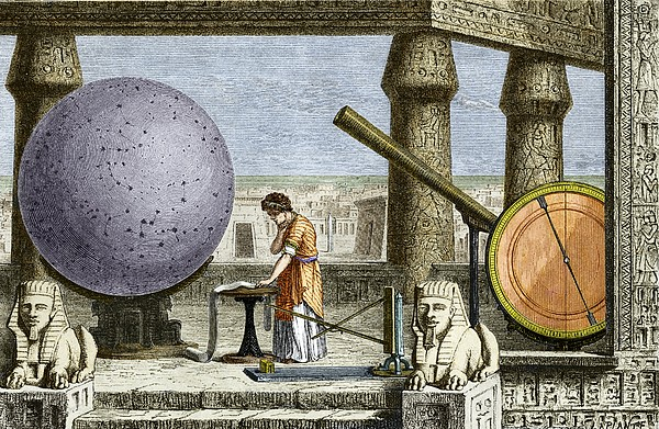 Ptolemy's Observatory, 2nd Century Ad Print by Sheila Terry