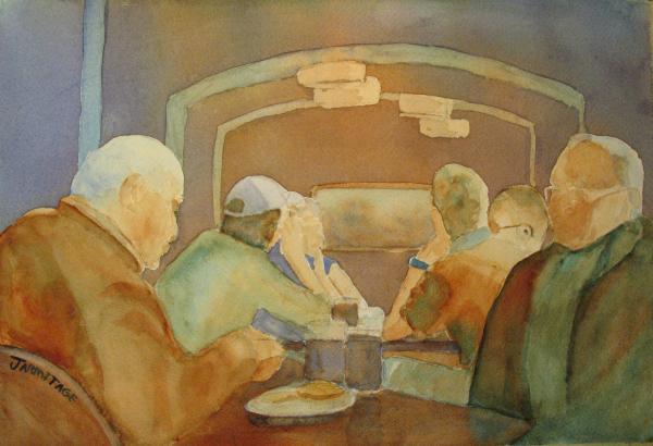 Pub Talk II Print by Jenny Armitage